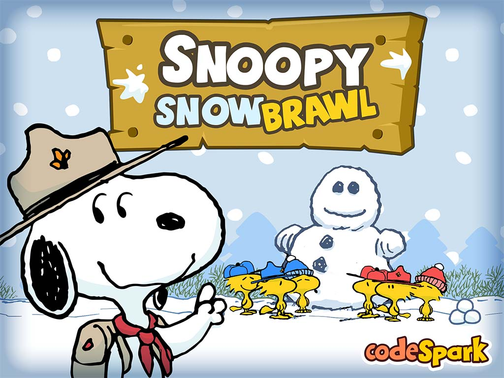 Snoopy Snow Brawl screen