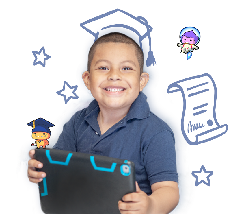 boy wearing graduation cap